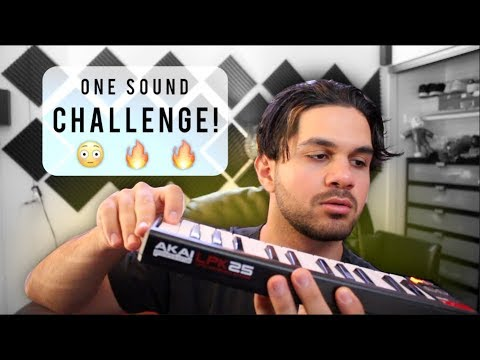 ONE SOUND CHALLENGE!! making a whole song using one 808