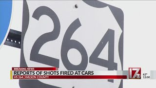 At least 5 vehicles hit by bullets on US-264 in Wilson County