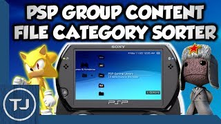PSP Group Content Category Sorting Feature! (Organise PSP Files)