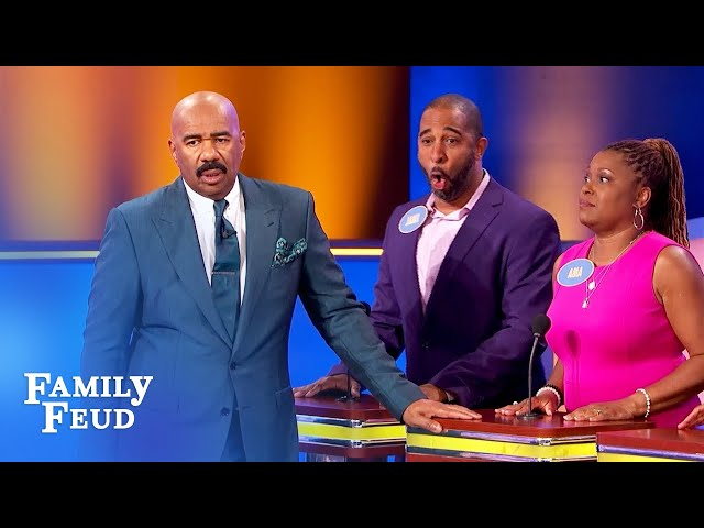 GET OUT! Oh and take your DIRTY... | Family Feud