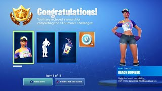 "VOICI THE FREE SKIN OF DEFIES ""14 DAY OF SUMMER"" on FORTNITE. (Secret Reward)"