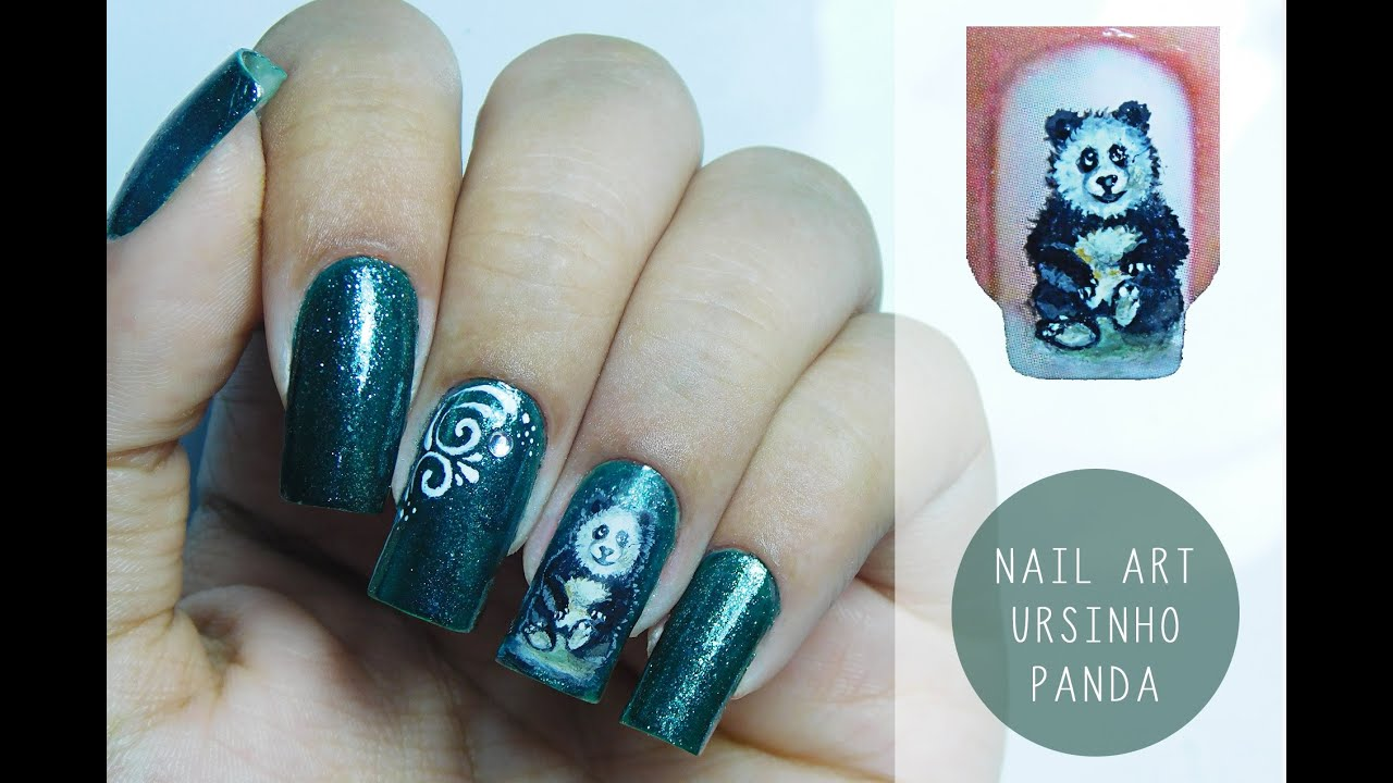 Nail art com adesivos