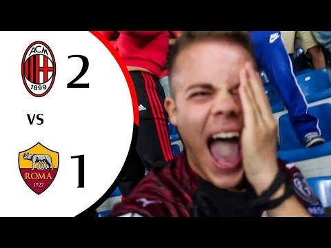 PIANGOO!!!!! 😭 - MILAN 2-1 ROMA | LIVE REACTION GOL SAN SIRO HD