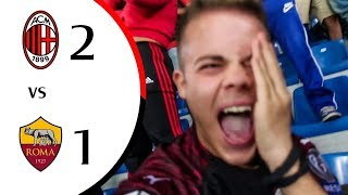 PIANGOO!!!!! 😭 - MILAN 2-1 ROMA | LIVE REACTION GOL SAN SIRO HD