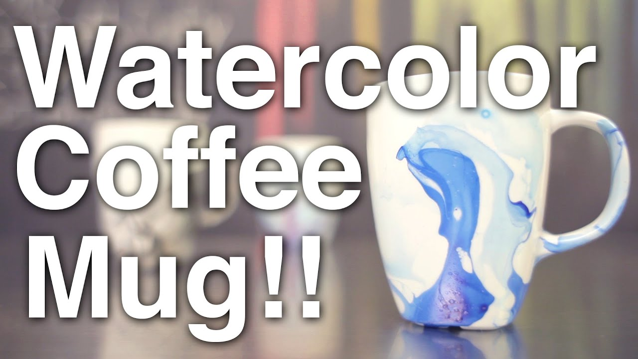 Diy watercolor coffee mugs youtube solutioingenieria Image collections