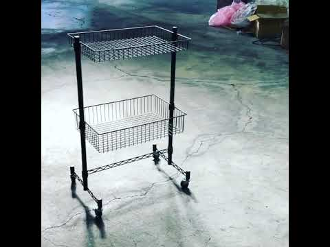 New Storage Furniture Design, A Wire Basket Shelf Trolley is now in production.