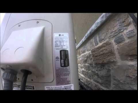 2014 LG 2 5 ton Ductless Mini Split Air Conditioner Running!