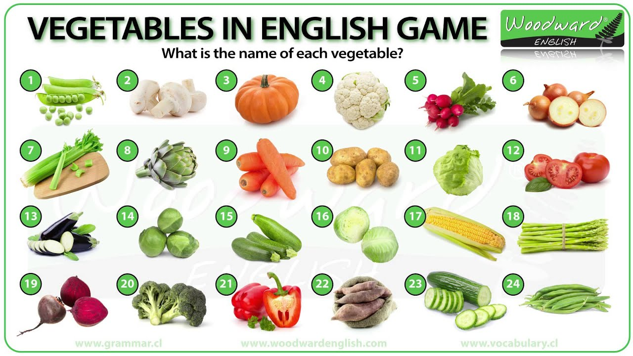 vegetables english vocabulary quiz youtube. Black Bedroom Furniture Sets. Home Design Ideas