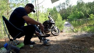 Motorcycle camping....what could go wrong