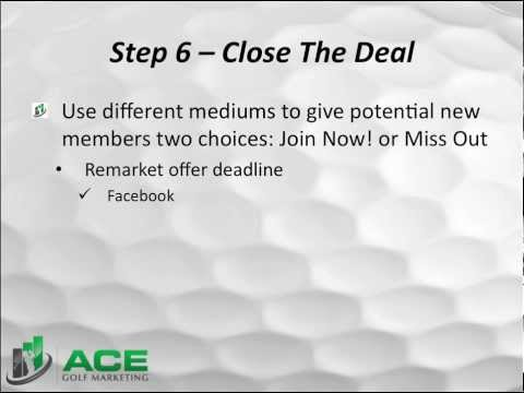 Golf Membership Marketing, Selling Golf Memberships, How To Sell Golf Memberships