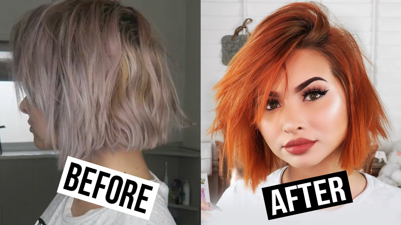 Dying My Hair Orange How To 5 Minute Home Hair Colour Talia Mar