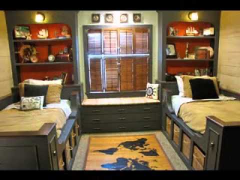 Easy DIY Shared boys bedroom decorating ideas - YouTube