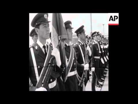 UPITN 24 4 73 ARRIVAL OF SOVIET DEFENCE MINISTER ANDREI GRECHKO