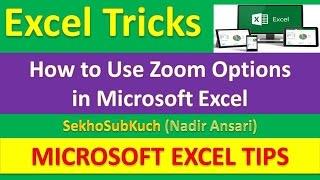 How to Use Zoom Options in Microsoft Excel : Excel Tricks [Urdu / Hindi]