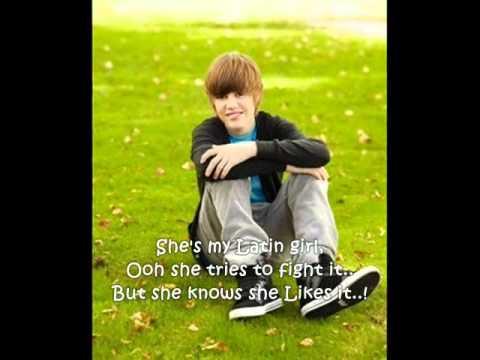 Latin Girl-Justin Bieber (LYRICS)