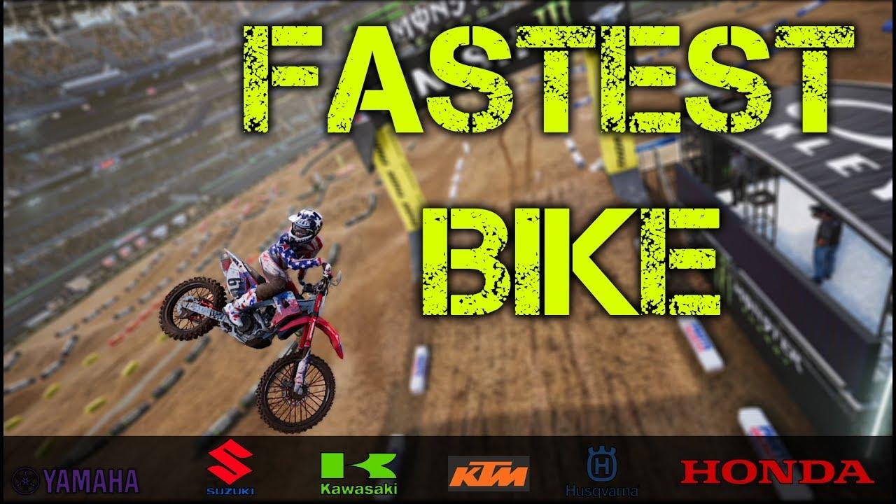 fastest bike in monster energy supercross game youtube. Black Bedroom Furniture Sets. Home Design Ideas