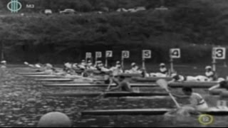 1964 Tokyo, Japan. Olympic Canoeing, Men's K-1 1000 m Final. (16:9)