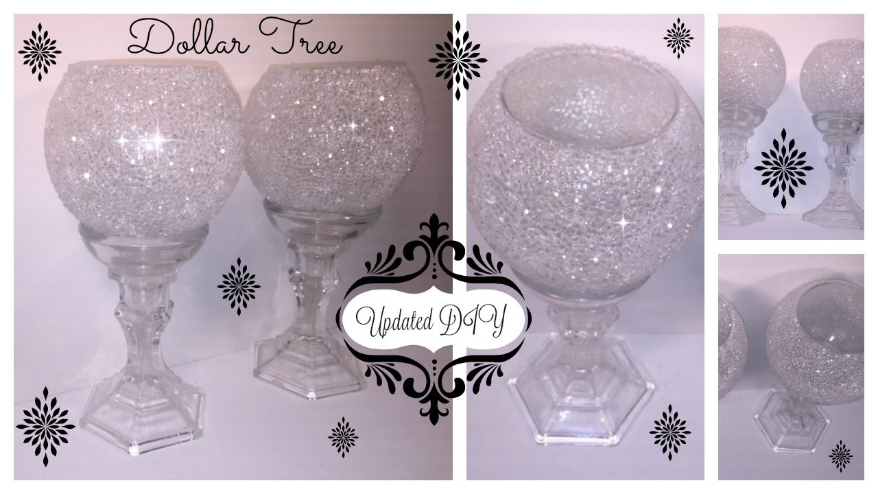 DIY UPDATED FROSTED BLING CANDLE HOLDER WEDDINGS