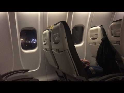 Cabin View Takeoff Munich (MUC) to Basel (BSL) night flight CRJ900 Lufthansa