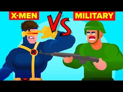 US Military vs X-Men - Who Would Win (Marvel Disney X-Men Dark Phoenix)