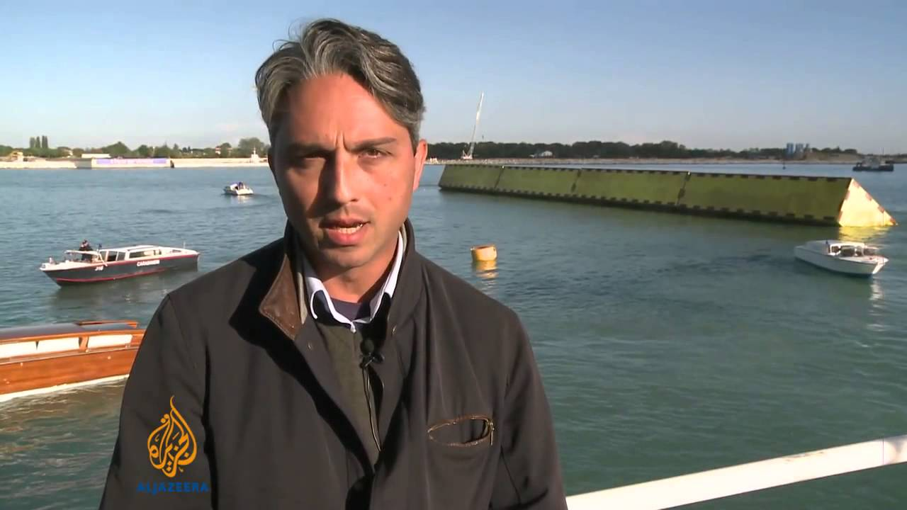 Venice tests new flood barriers