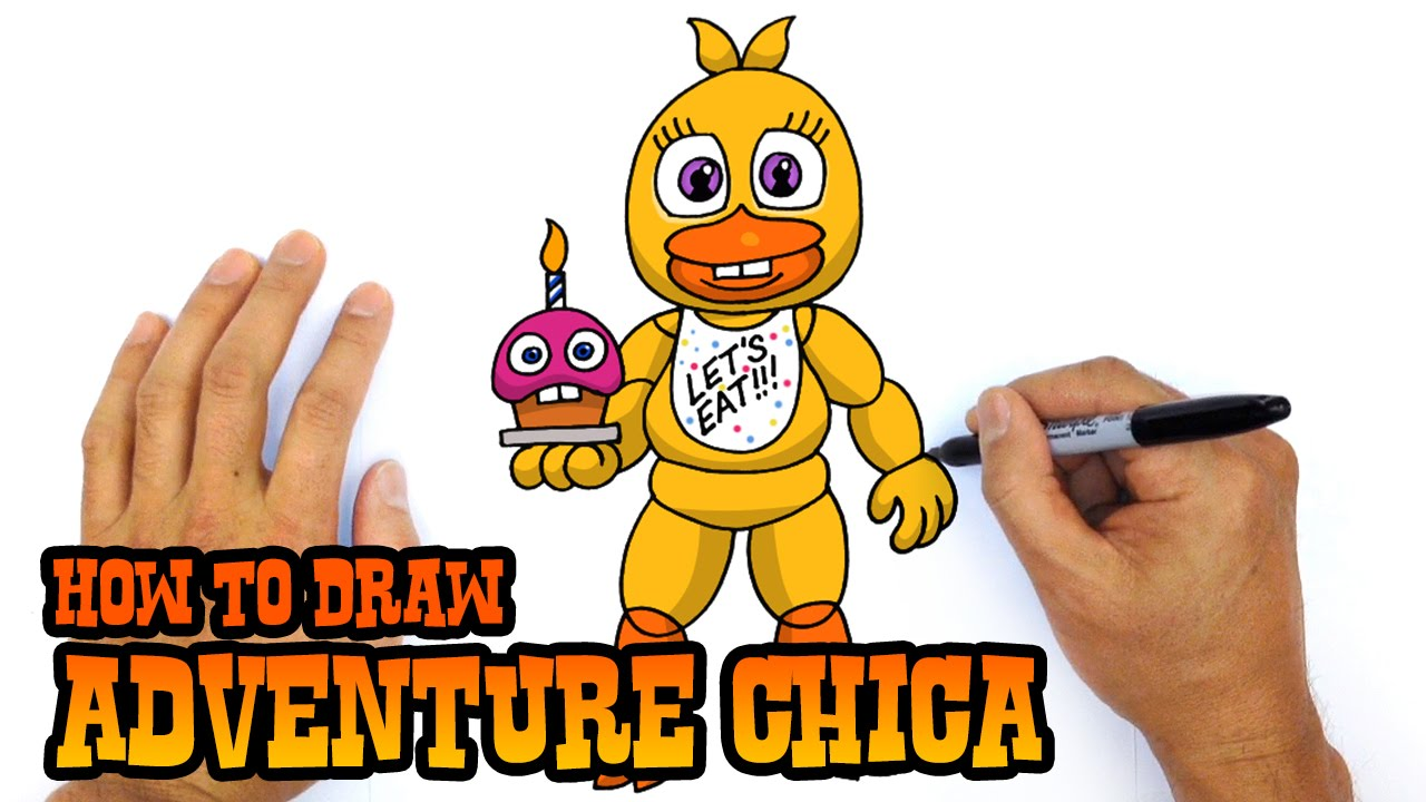 How To Draw Adventure Chica Fnaf World Youtube