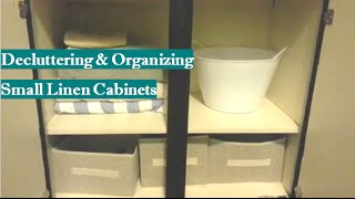 Decluttering and Organizing Small Linen Cabinets