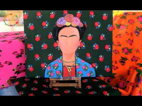 Frida Kahlo Minimalist Painting - Timelapse
