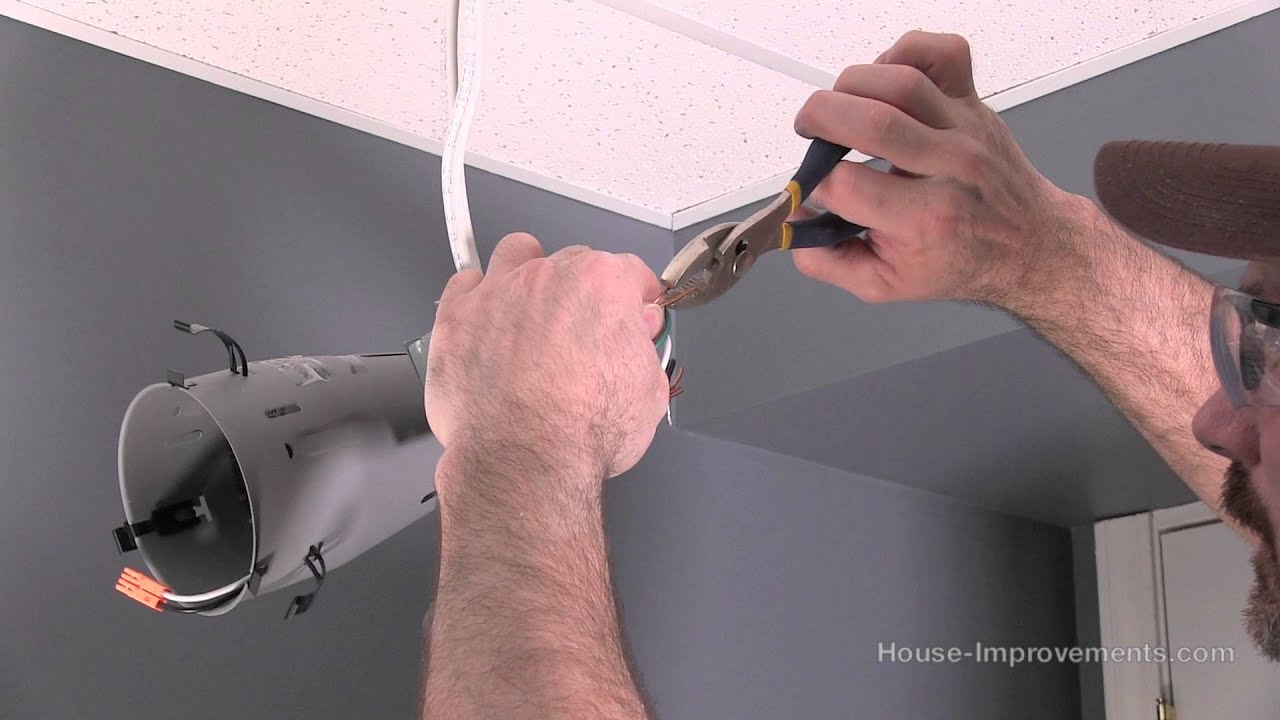 How To Install A Recessed Pot Light - YouTube