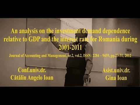 Catalin Angelo Ioan Gina Ioan   An analysis on the investment demand dependence relative to GDP and