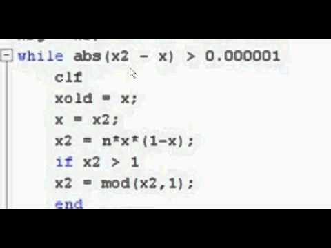 Re: Chaotic Behavior with MATLAB