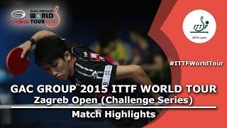 Zagreb Open 2015 Highlights: YOSHIMURA Maharu vs LEE Sangsu  (1/2)