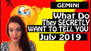 """Gambar cover Gemini, """"WHAT DO THEY SECRETLY WANT TO TELL YOU"""" July 2019 SPY ON THEM LOVE READING"""