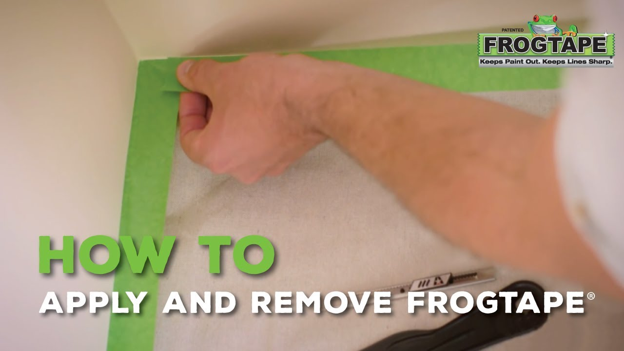 how to apply and remove frogtape® - youtube