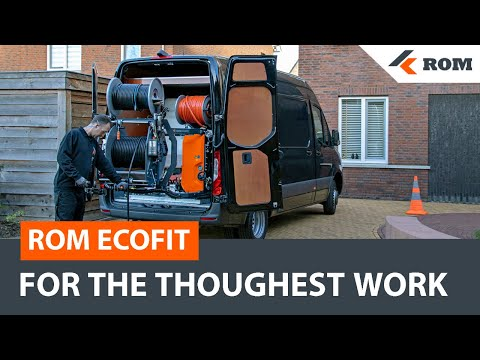 ROM EcoFit | Sewer Cleaning Machine | Sewer Jetter Drain Cleaner