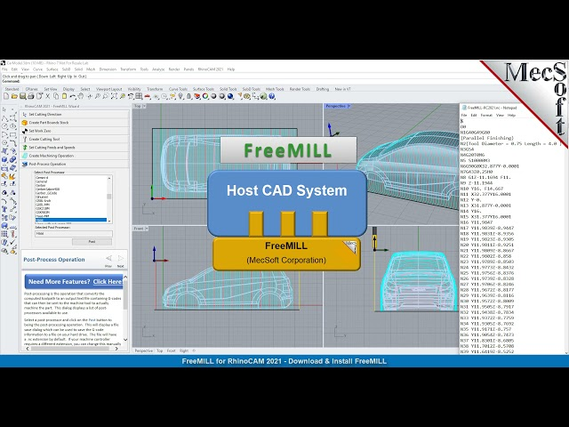 Download & Install Quick Start, FreeMILL , RhinoCAM 2021