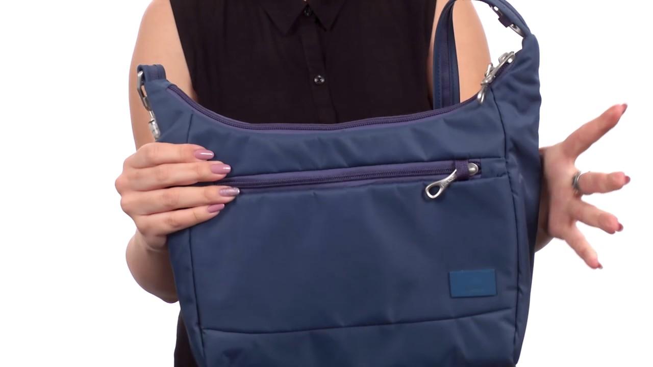 Pacsafe Citysafe CS100 Anti-Theft Travel Handbag SKU 8559571 - YouTube 527b454e62a46