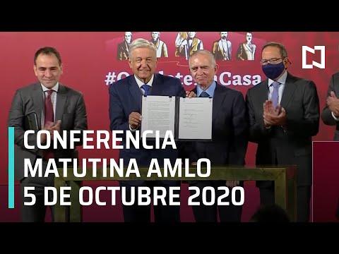 Conferencia matutina AMLO/ 5 de Octubre 2020