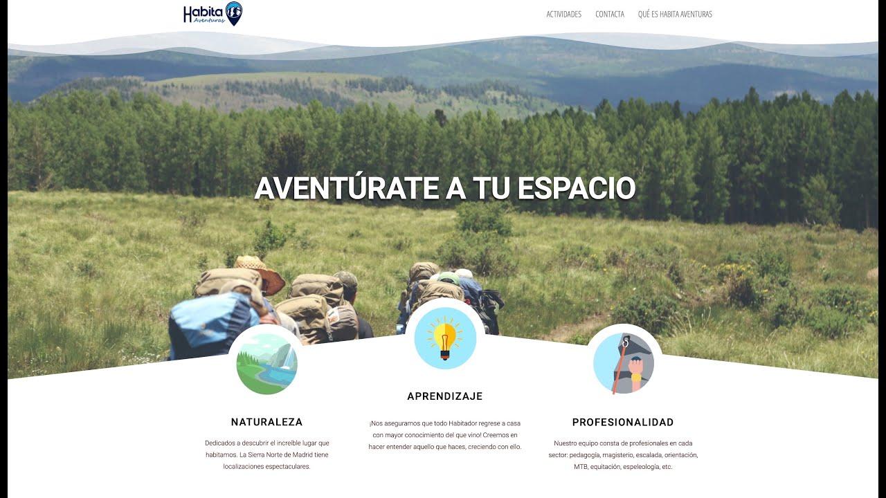 Website Wordpress Habita Aventuras