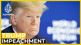 Trump in Davos the day his impeachment trial starts in US Senate