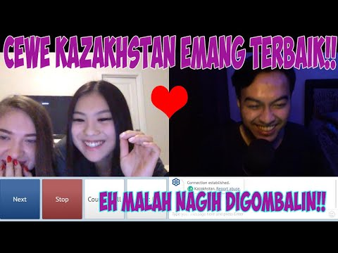 REAKSI CEWE KAZAKHSTAN PAS DIGOMBALIN!! OME TV ! DI GOMBALIN MALAH MINTA NAMBAH!!