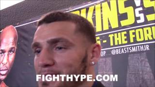 JOE SMITH JR. WARNS HOPKINS HE'S NOT JUST A PUNCHER; VOWS TO BOX AND USE KOVALEV TIPS