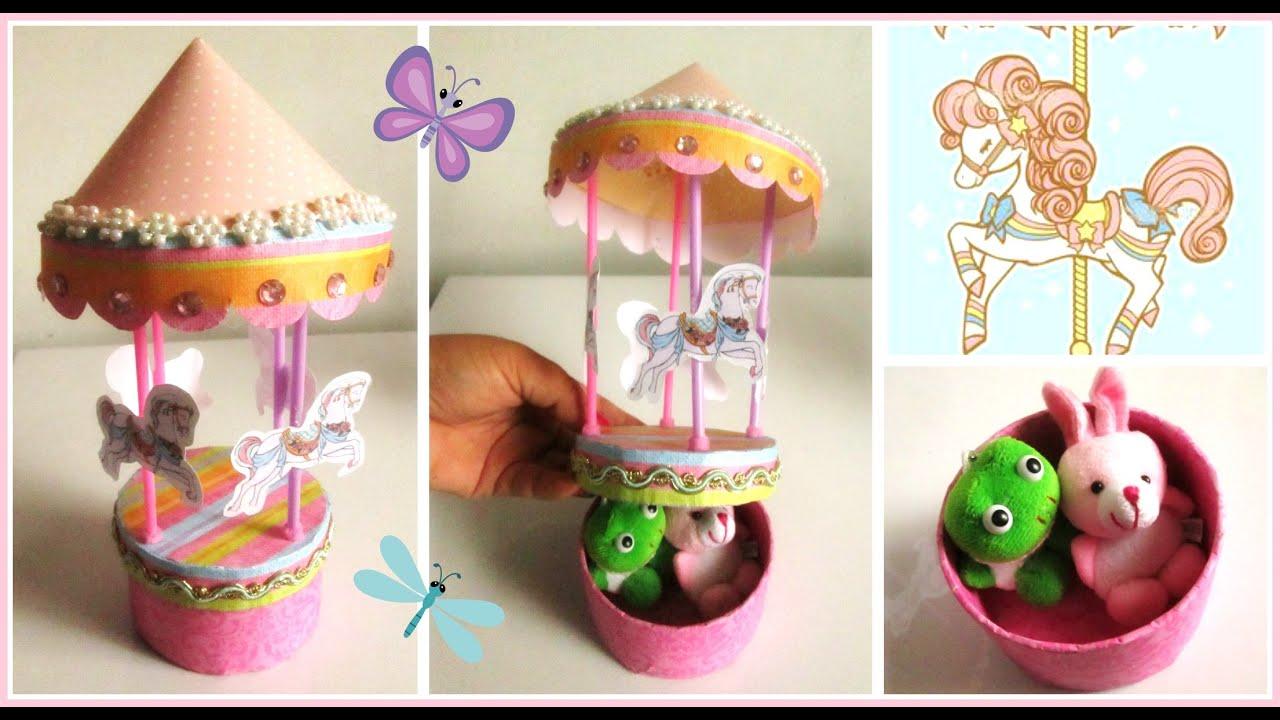 Cajita de carrusel para dulces regalos o accesorios for Accesorios de decoracion