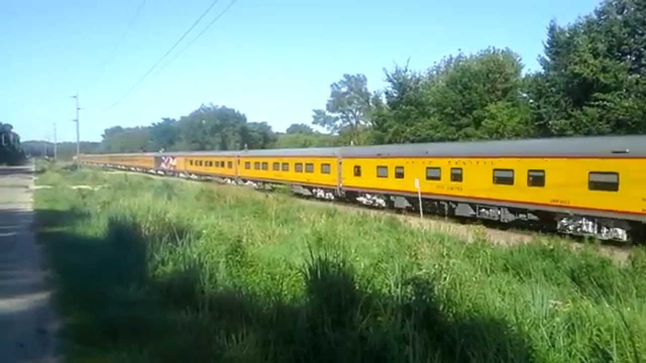Union Pacific 17 Car Business Train August 3 2015 Youtube