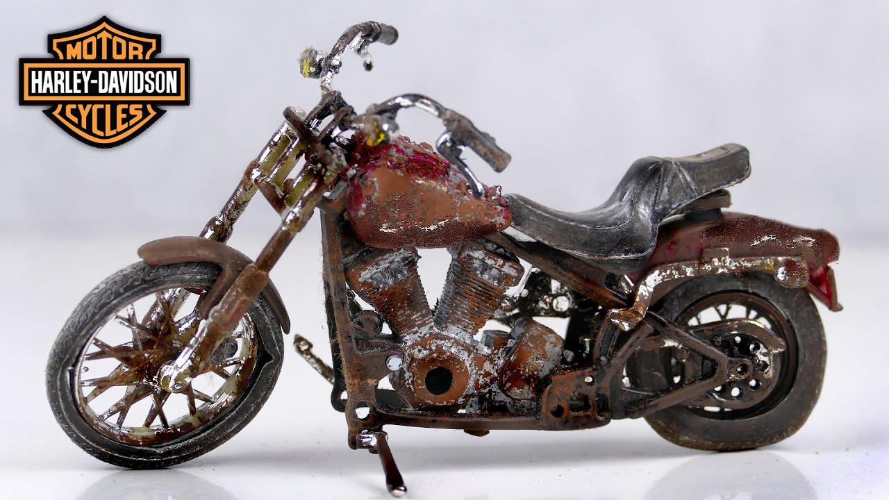 Restoration Harley Davidson Motorcycle Abandoned Bike