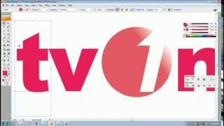 Tutorial : Cara Membuat Logo TV One dengan Adobe Illustrator, Photo, How To Make TV One Logo, Design