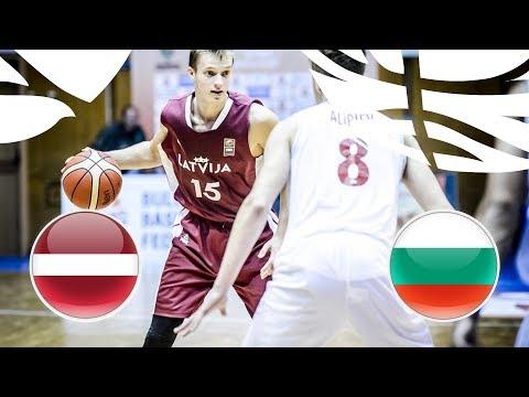 Latvia v Bulgaria - Full Game - Quarter-Finals - FIBA U20 European Championship Division B 2018