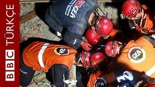 Türk arama kurtarma ekibi GEA bir depremzedeyi daha sağ kurtardı - BBC TÜRKÇE