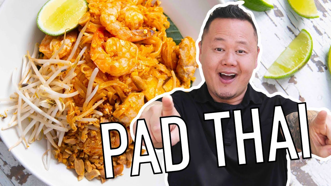 How To Make Pad Thai With Jet Tila Ready Jet Cook With Jet Tila Food Network Youtube