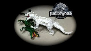 Part 4/4 Rainbow Loom Indominus Rex From Jurassic World (1 Loom)